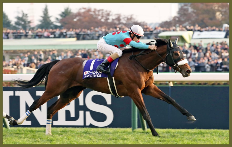 Japan Cup Siegerin Almond Eye mit Christophe Lemaire